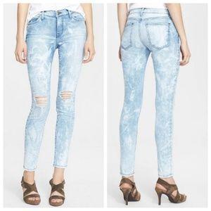 Current Elliot City Bleach Destroy Skinny Jeans 28